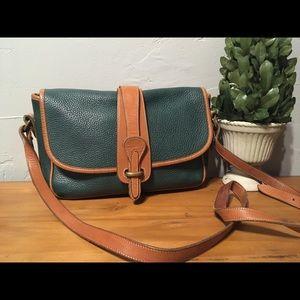 Vintage Dooney and Bourke green handbag